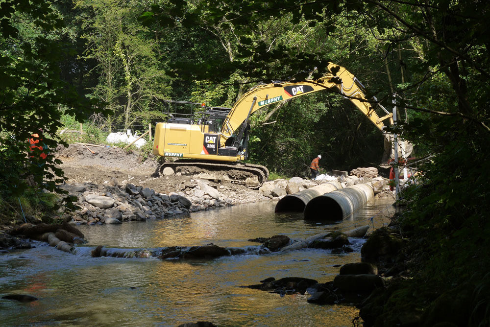 Preventing silt pollution of waterways from construction sites